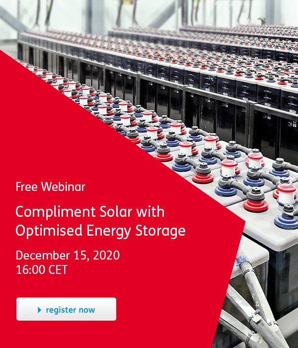 Compliment Solar with Optimised Energy Storage