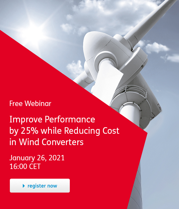 Improve Performance by 25% while Reducing Cost in Wind Converters